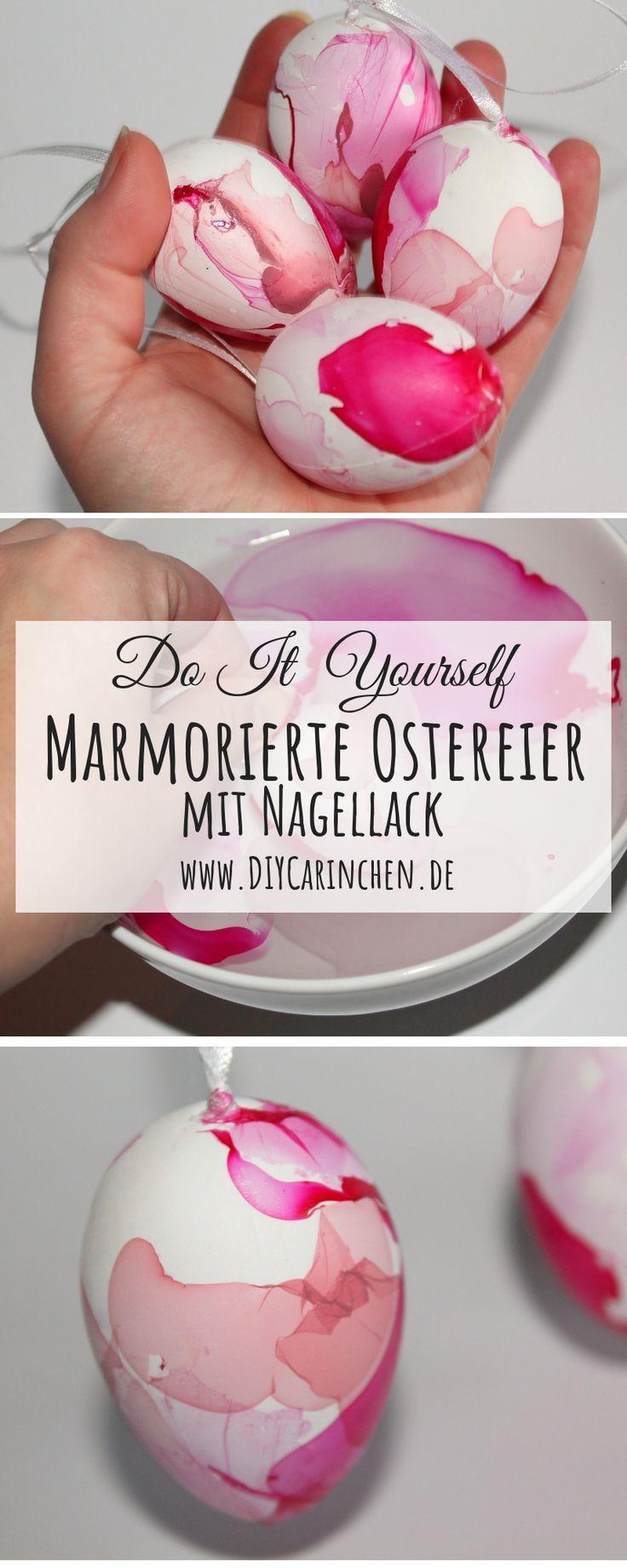 Photo of Ostereier färben mal anders: DIY marmorierte Ostereier mit Nagellack einfach selber machen