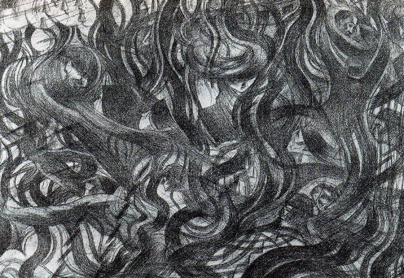 "Boccioni, Umberto (1882-1916)  Study for ""States of Mind: The Farewells""  Date: 1911"
