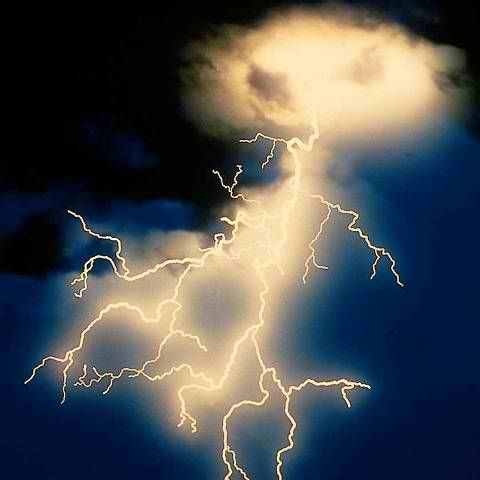 Light show during the flooding and tornados in Iowa April 14 2012.  (Or is this the first actual photo of alien visitation ;-)
