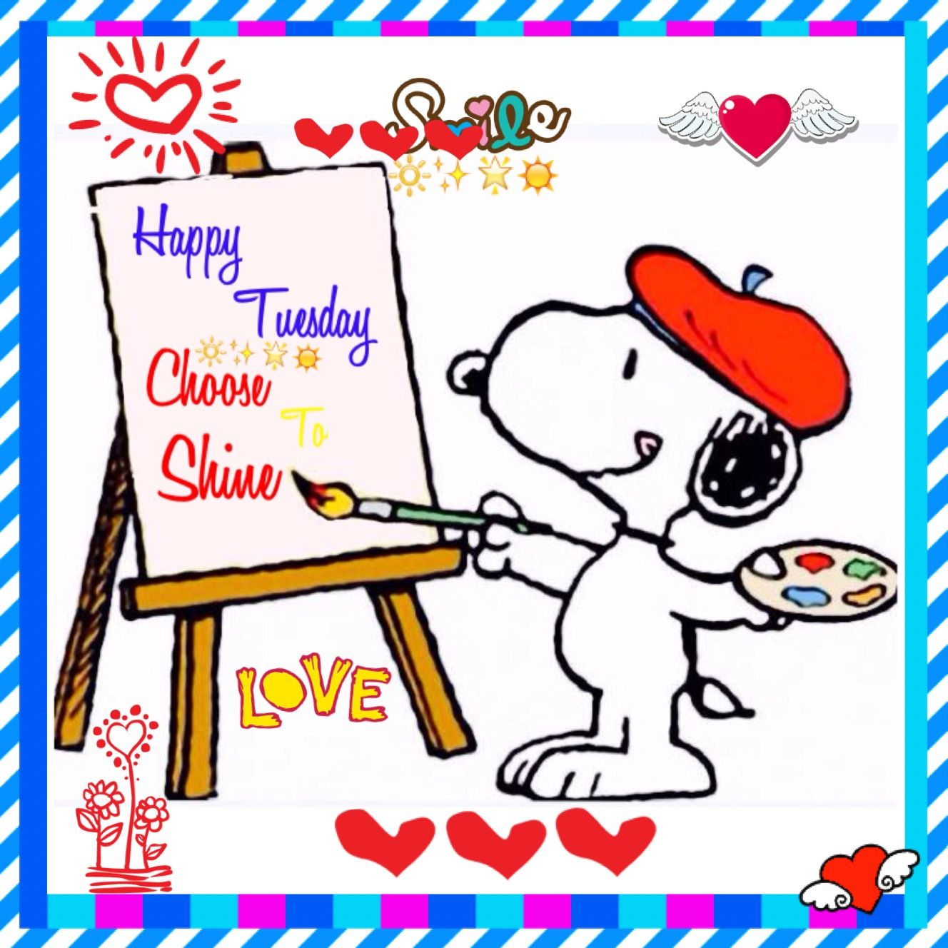 Tuesday | Snoopy love, Tuesday greetings, Happy tuesday