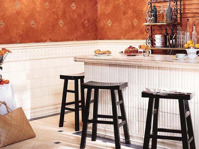 1 X 6 Chair Rail Part - 22: Crossvilleu0027s Savoy Wall: VS134 Cafe Chair Rail, Square Liner Bar , VS131  Linen Running
