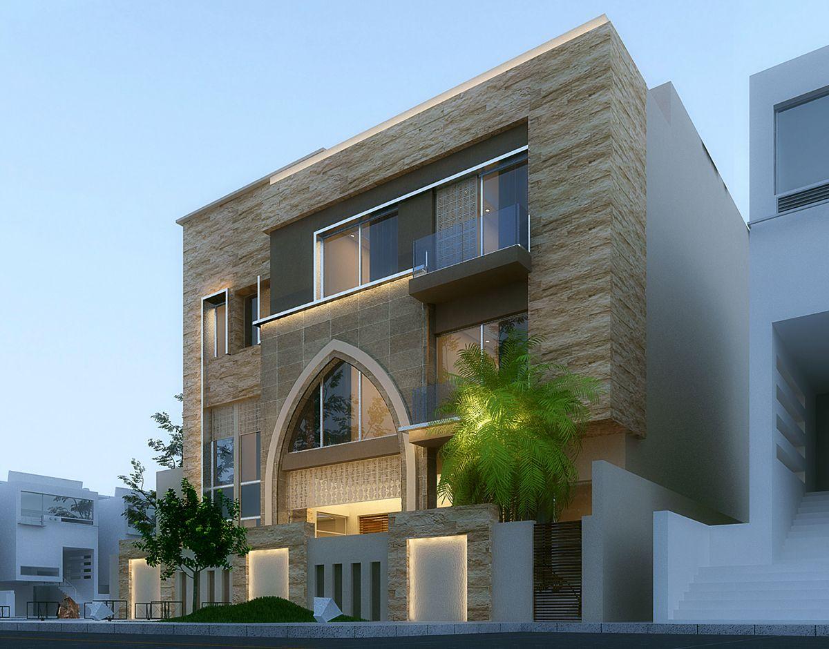 Villa in kuwait on Behance Exterior Pinterest Villas House