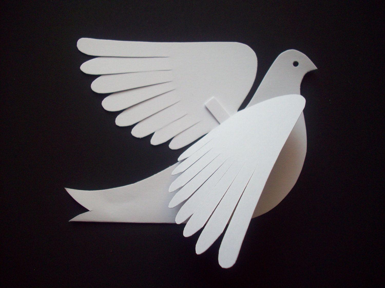 Открытка с объемными голубями, подруге дочери