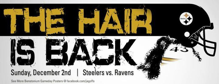 PITTSBURGH STEELERS~The Hair is back troy