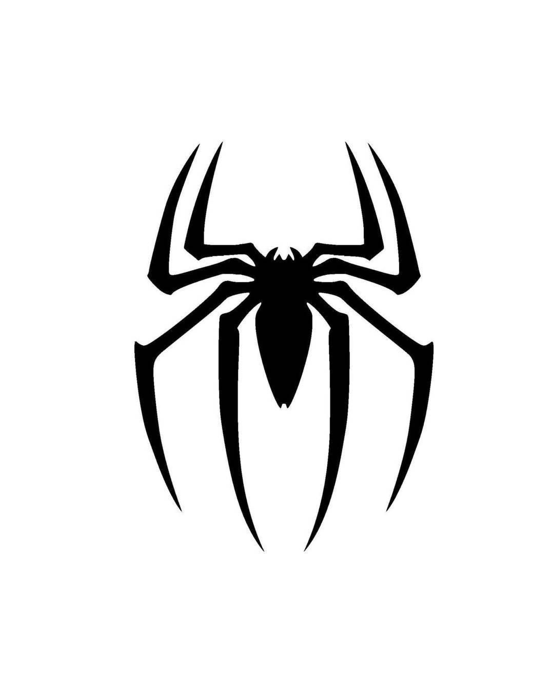 Spiderman Logo Silhouette Vinyl Decal Sticker