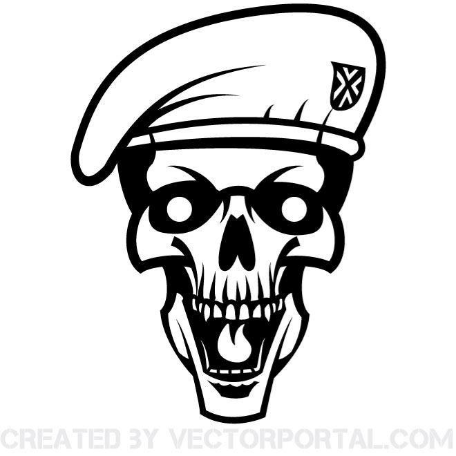 skull with beret vector graphics skull vectors pinterest rh pinterest co uk skull vector image skull vector image