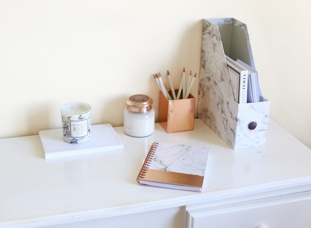 Primark Home Marble And Rose Gold Stationary 1 Of 1 Rose Gold Bedroom Accessories Rose Gold