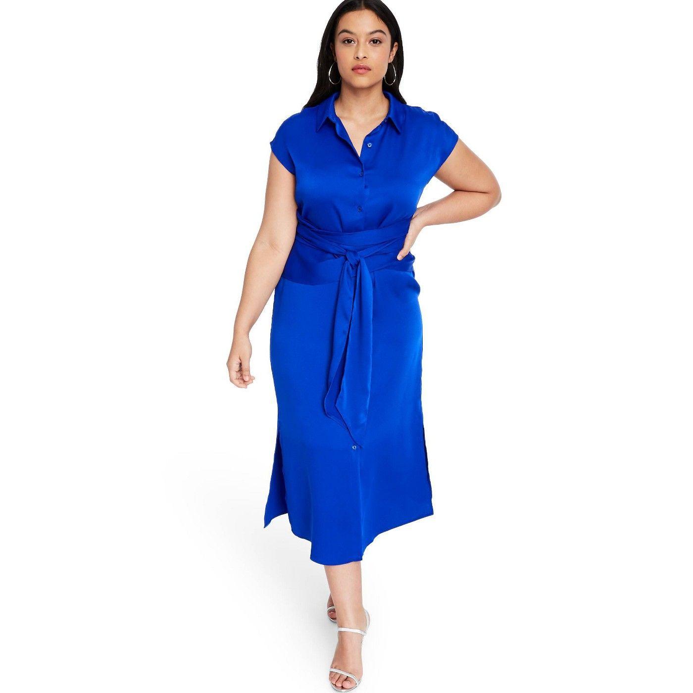 Women S Tie Front Shirtdress Cushnie For Target Regular Plus Royal Blue Sponsored Front Affiliate S Womens Sleeveless Dress Womens Tie Casual Dress [ 1400 x 1400 Pixel ]