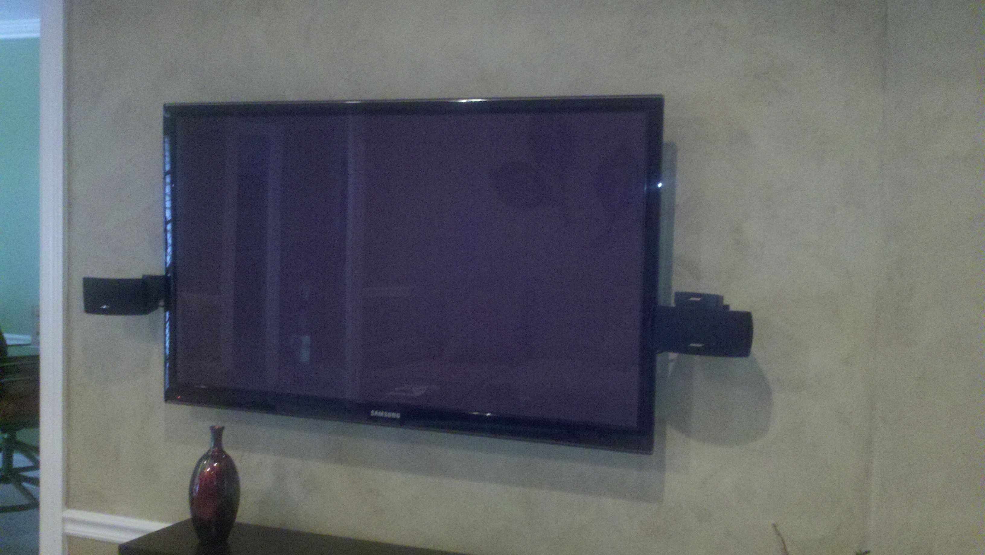No Stud Tv Hanger Hang Flat Screen Tv Wall Mounted Tv Tv Wall