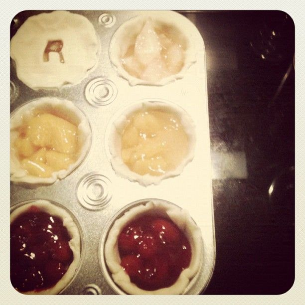 Mini pies for today's Friendsgiving! #baking #pie #friends