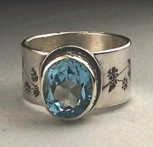 Sky Blue Topaz Sterling Silver Ring Size 9 Free by StartupSterling, $150.00