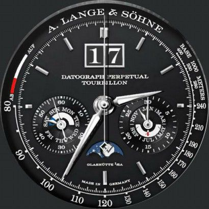 Famoso A Lange & Söhne Saxonia Datograph Perpetual Tourbillon - Watch PG11