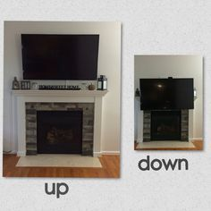 tv above fireplace pull down - Google Search | sterling | Pinterest