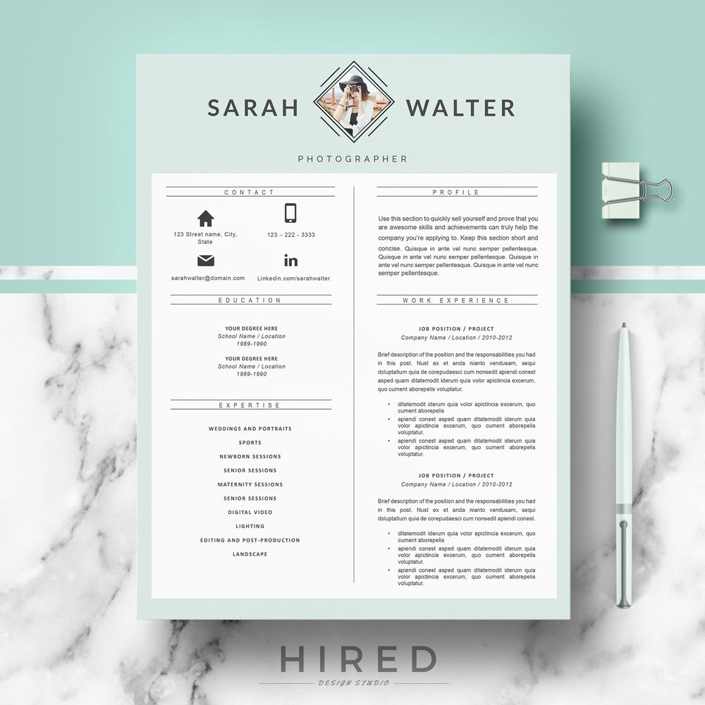 Resume template for Ms Word   Resume Templates for MS Word   Pinterest