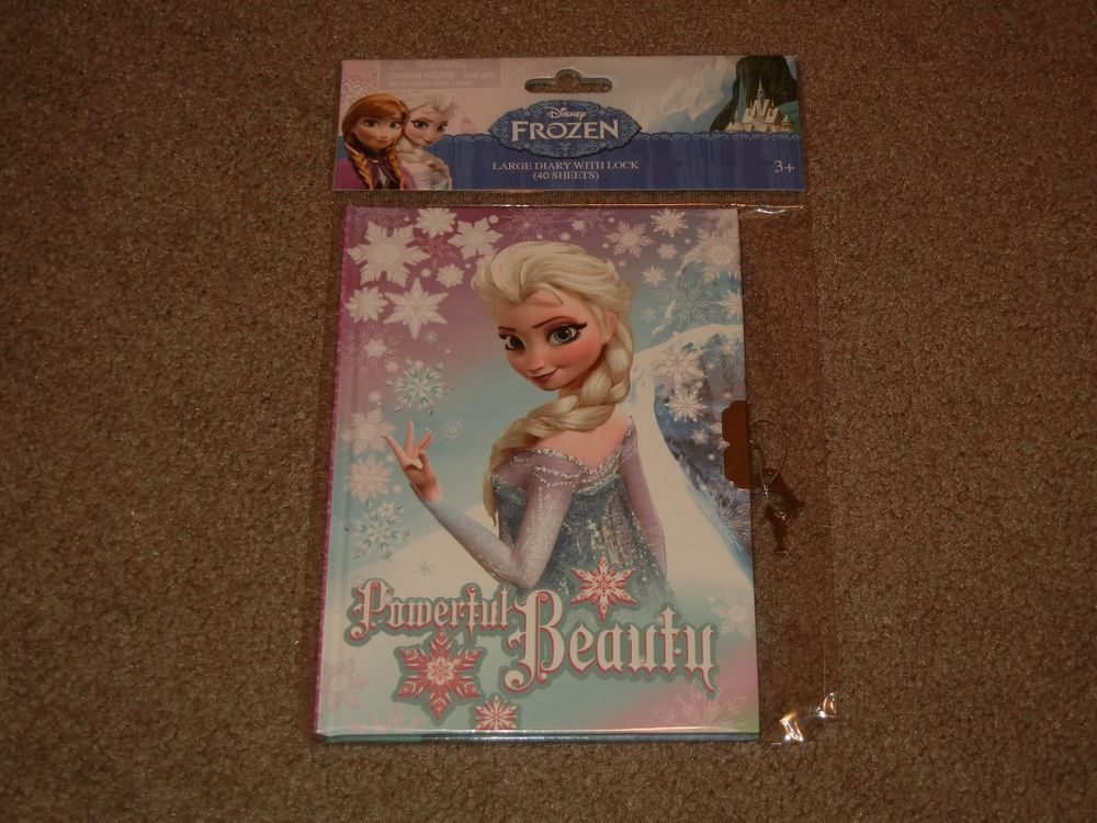 Disney Frozen ELSA Large Diary with Lock and 2 Keys~NEW