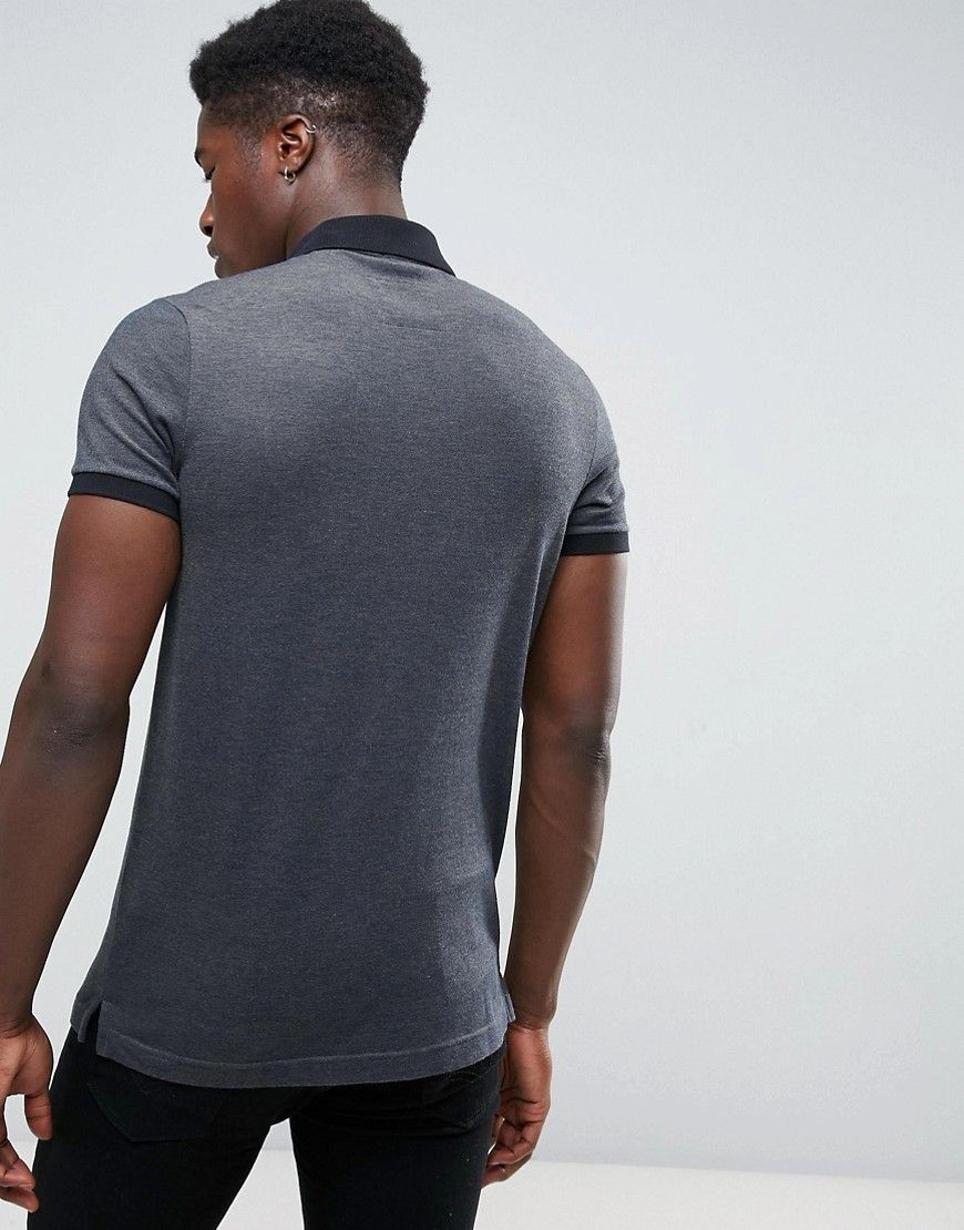 9946601f Hollister Polo Stretch Pique Icon Logo Slim Fit in Dark Gray | Products