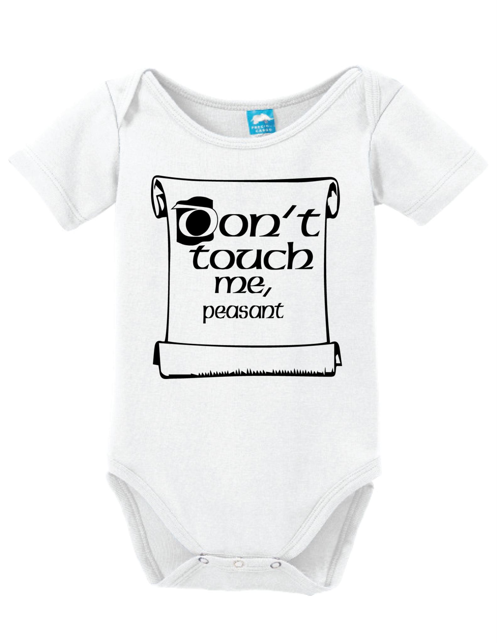 f05fa9ef3f Dont Touch Me Peasant Bodysuit Crafted in babysoft cotton