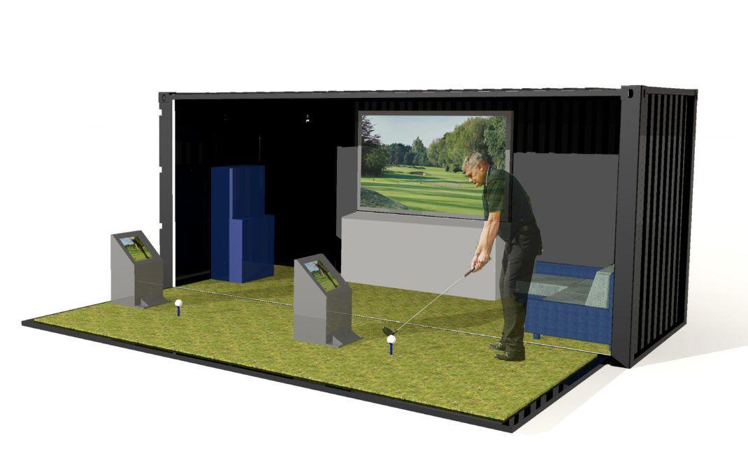 Shipping Container Golf Simulator Golf Simulators Golf Apps Golf