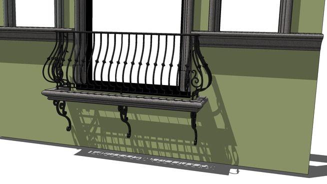 3D Warehouse - View Model | Iron balcony, Small office ...