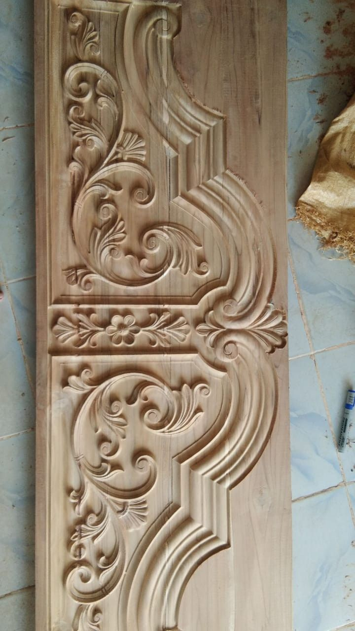 Bavas Wood Works Pooja Room Door Frame And Door Designs: Cnc Wood Work Contact +918421146457 By Vishwakarmaart