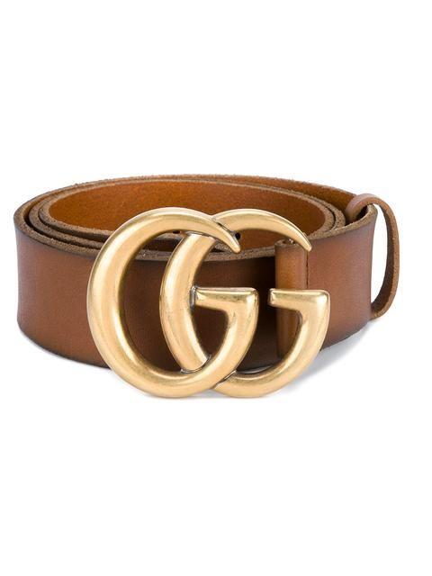 15ec3a7ea GUCCI Leather Logo Belt. #gucci #belt. Shop Gucci interlocking GG buckle ...