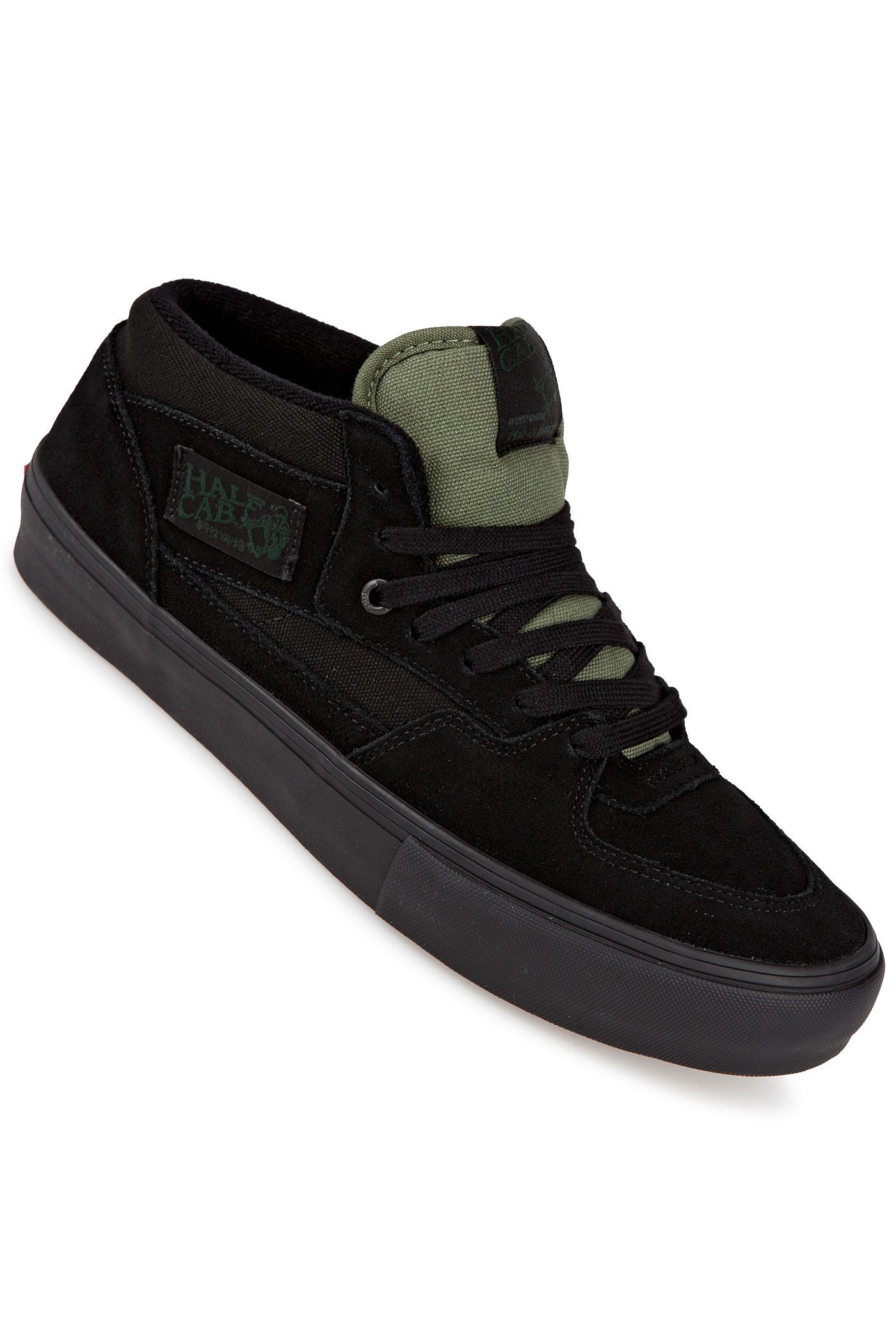 vans half cab black green