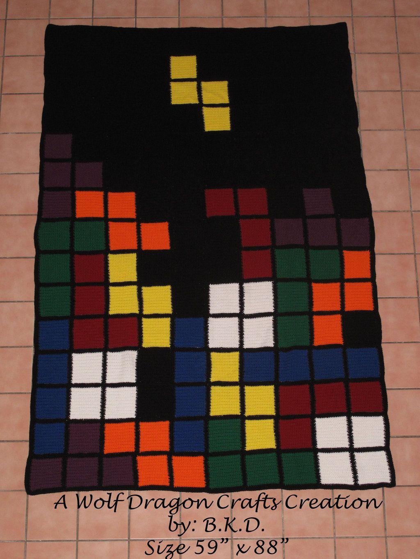 8 bit tetris afghan blanket by wolfdragoncrafts on deviantart 8 bit tetris afghan blanket by wolfdragoncrafts on deviantart dragon craftscrochet free patternscrocheting bankloansurffo Images