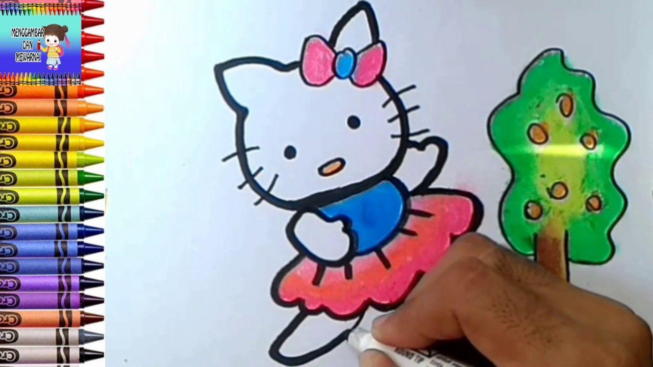 Menggambar Dan Meawarnai Hello Kitty Menari Nari Mewarnai Dengan Crayon Hello Kitty Buku Mewarnai Abstrak