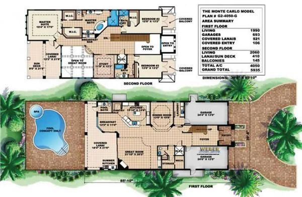 4000 Sq Ft (400 Sq M) Narrow House Plan | House Exterior