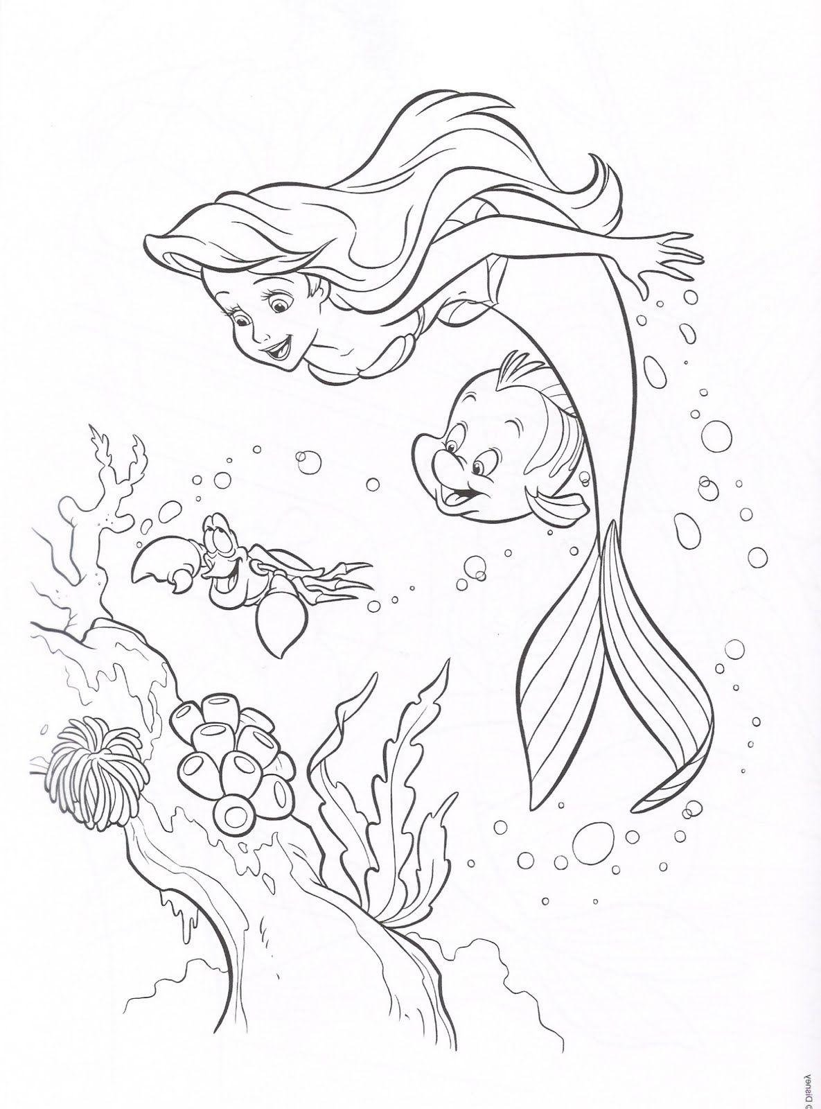 dibujos-colorear-princesa-ariel-disney-la-sirenita.jpg (1185×1600 ...