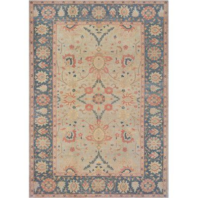 Mansour One Of A Kind Agra Hand Knotted Wool Beige Indoor Area Rug Rugs Traditional Handmade Rugs