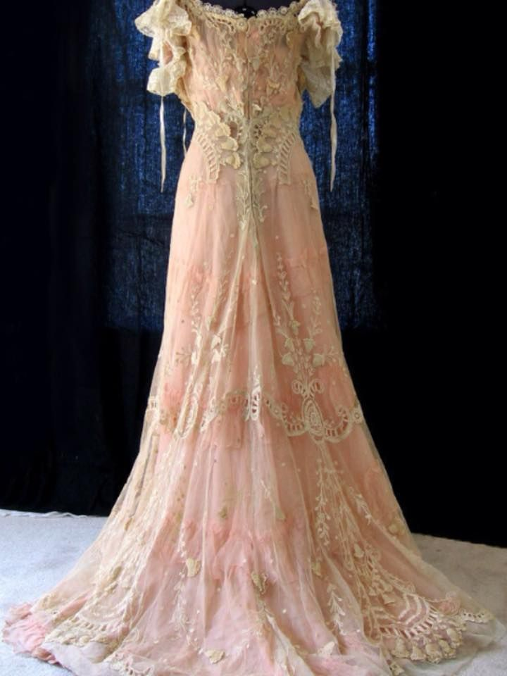 Tambour Lace Gibson Girl wedding gown via ebay | Fairy Tales ...