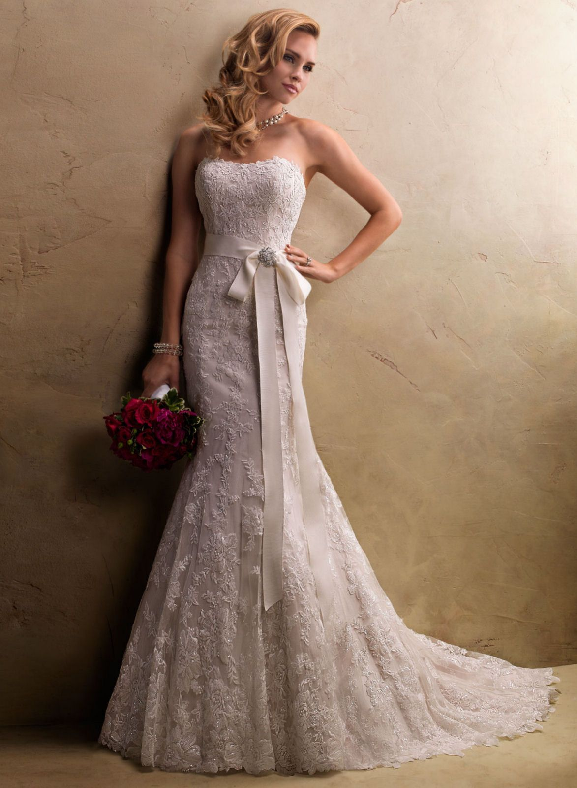 Over 40 Wedding Dresses with a belt | Judith from Maggie Sottero