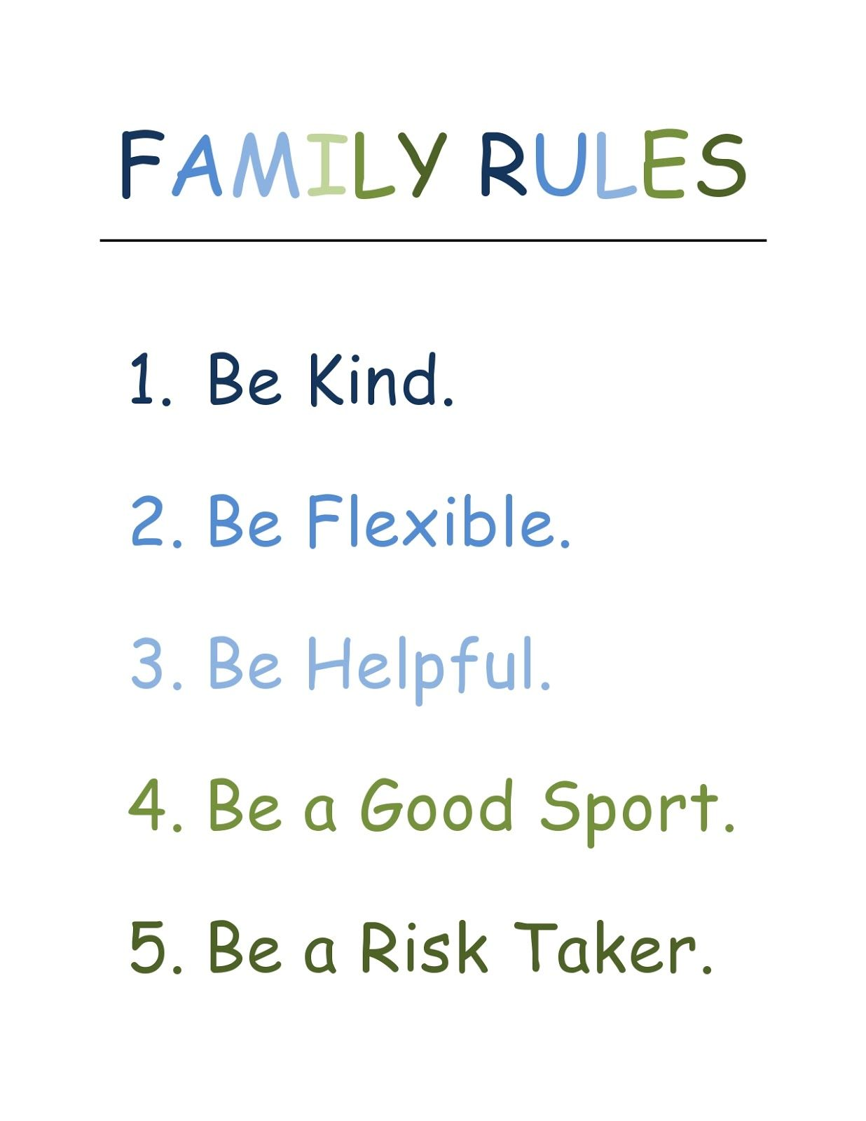 Family Rules 5 Easy And Simple Home Rules For Even The