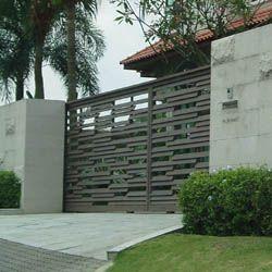 Modern entrance gate designs images for Modern house entrance gate designs