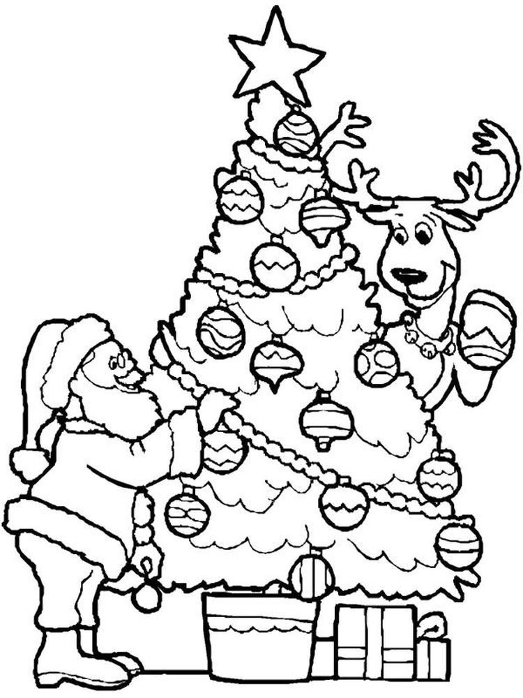 Santa Coloring Pages Printable Pdf The Following Is Our Collection Of Fre Printable Christmas Coloring Pages Christmas Tree Coloring Page Santa Coloring Pages