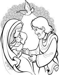 Dibujos De La Sagrada Familia Colorear Infantil Busca De Google