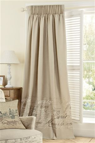 French Script Curtains Next New Living Room Curtains Curtain Designs