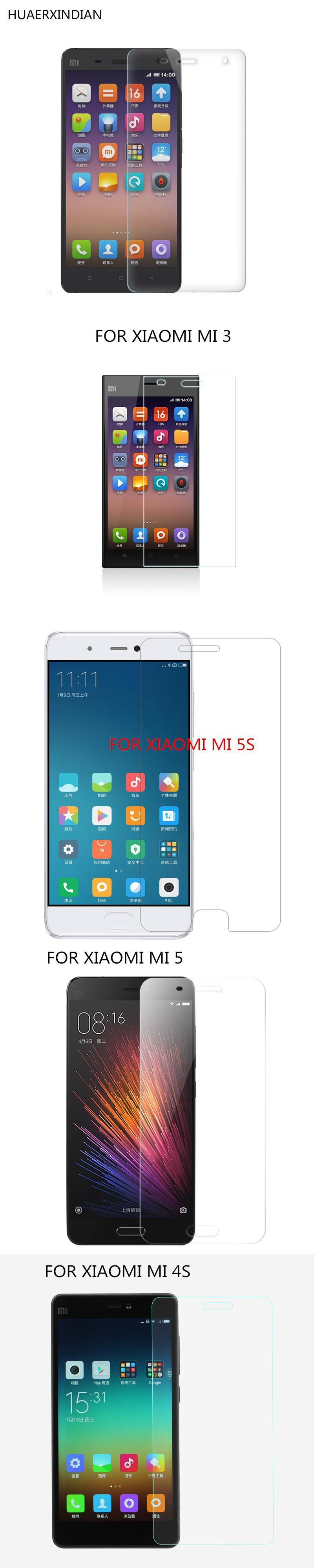 for Xiaomi 3 4 5 5s plus 4s 4i 4c prime Screen Protector 9H 2 5D Tempered Glass for mi3 mi4 mi5 mi5s mi4i mi4s Protective