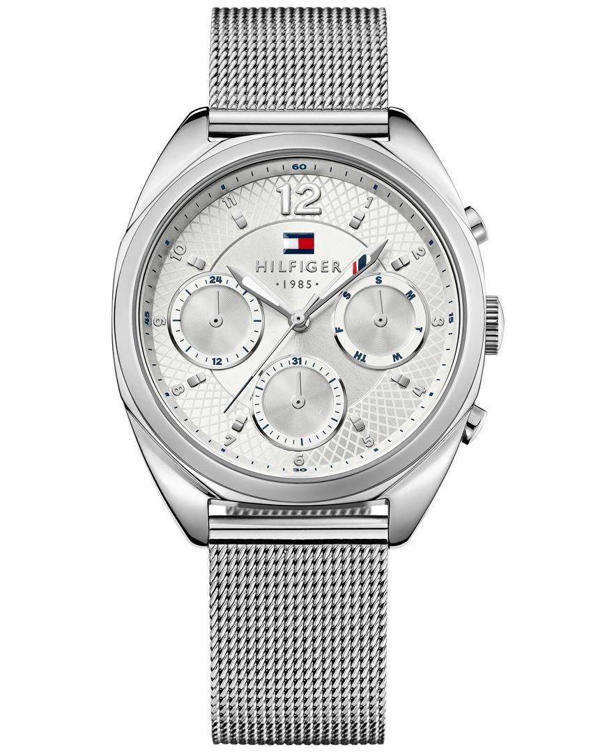Tommy Hilfiger Women's Sophisticated Sport Stainless Steel Mesh Bracelet  Watch 38mm 1781628