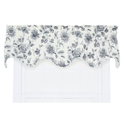 Found It At Wayfair Hawthorn Floral Print Lined Scallop 70