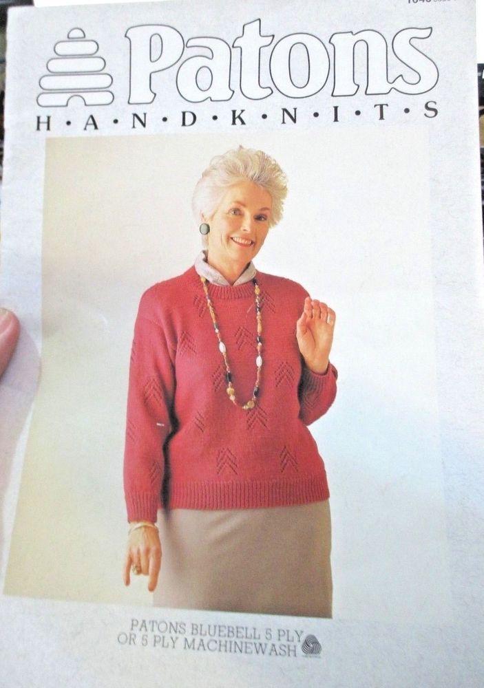 Patons knitting pattern ladies handknits in bluebell machinewash 5 ...