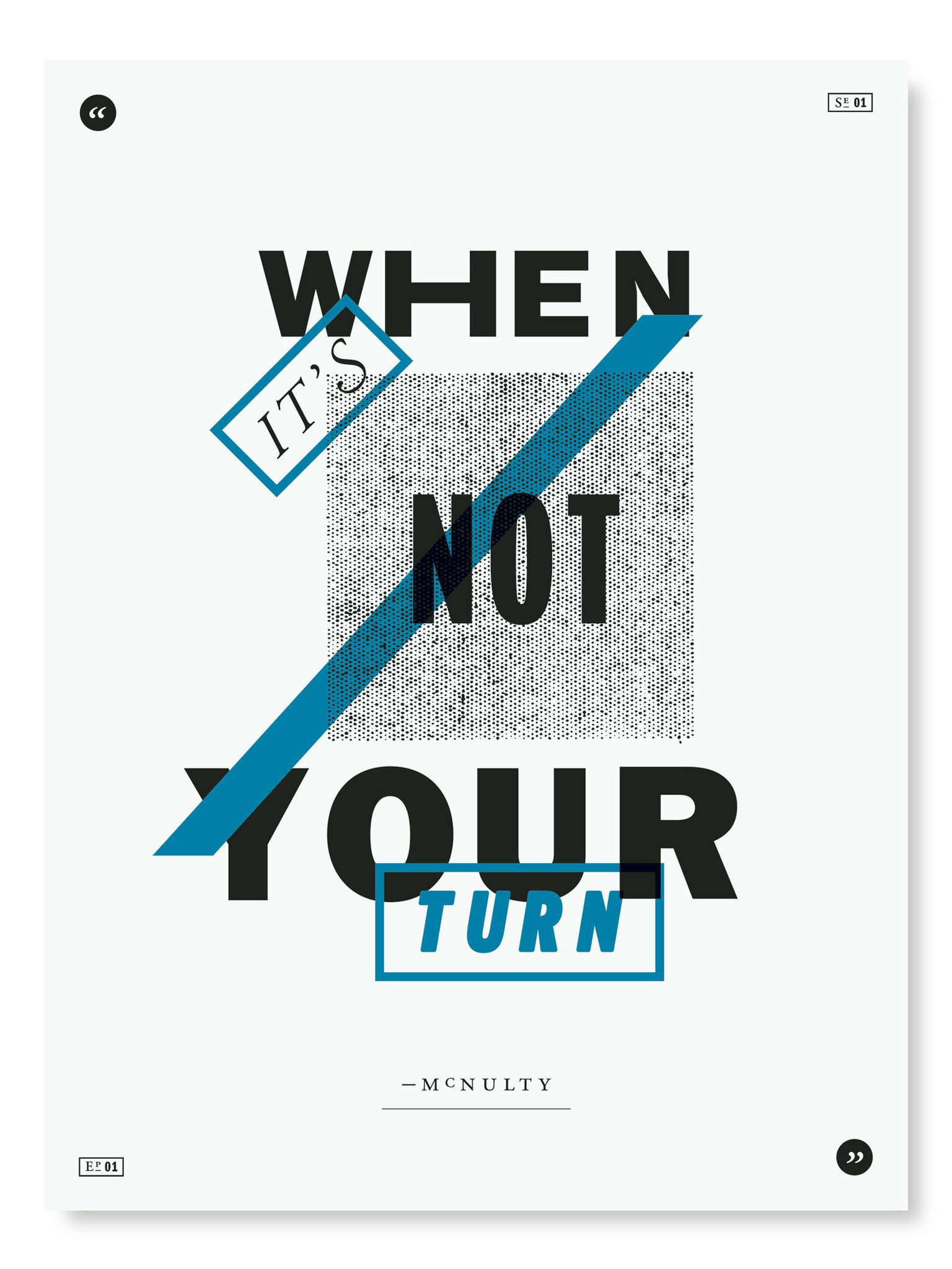 The Wire poster project   טלויזיה - הסמויה   Pinterest   Typo