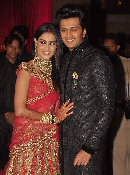 Genelia DSouza And Riteish Deshmukh Wedding Album Reception Photos