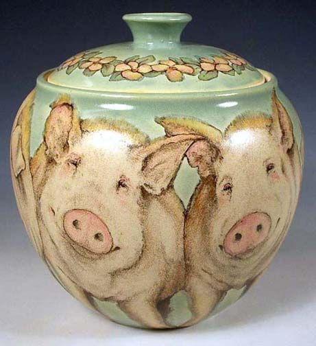 Chubby Pigs Cookie Jar Cookie Jar Pig Cookies Antique
