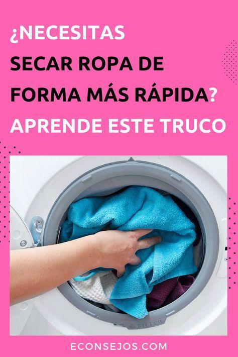 El truco casero seca ropa si no tienes secadora y es - Limpieza en seco en casa ...