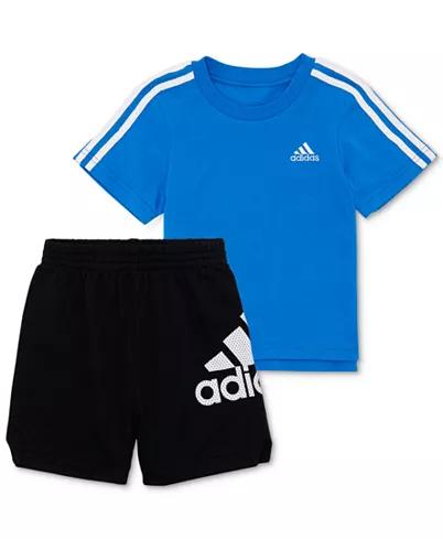 adidas Baby Boys 2-Pc. Cotton T-Shirt