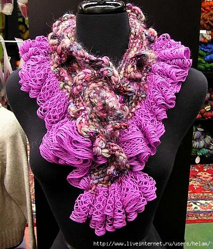 Another Scarf Made With Red Heart Boutique Sashay Yarn Favecrafts