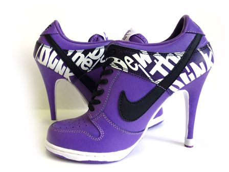 Purple shoes nikes for women | The Do The Dew Nikes Dunk Men High ...