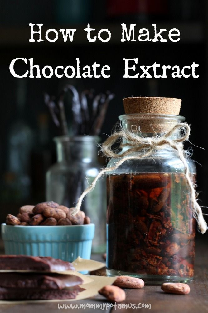 Cacao beans contain top notes that are usually lost when they're processed into chocolate, but you can get them back by adding in chocolate extract. Just grab cacao nibs and vodka, bourbon, or rum and follow these instructions.